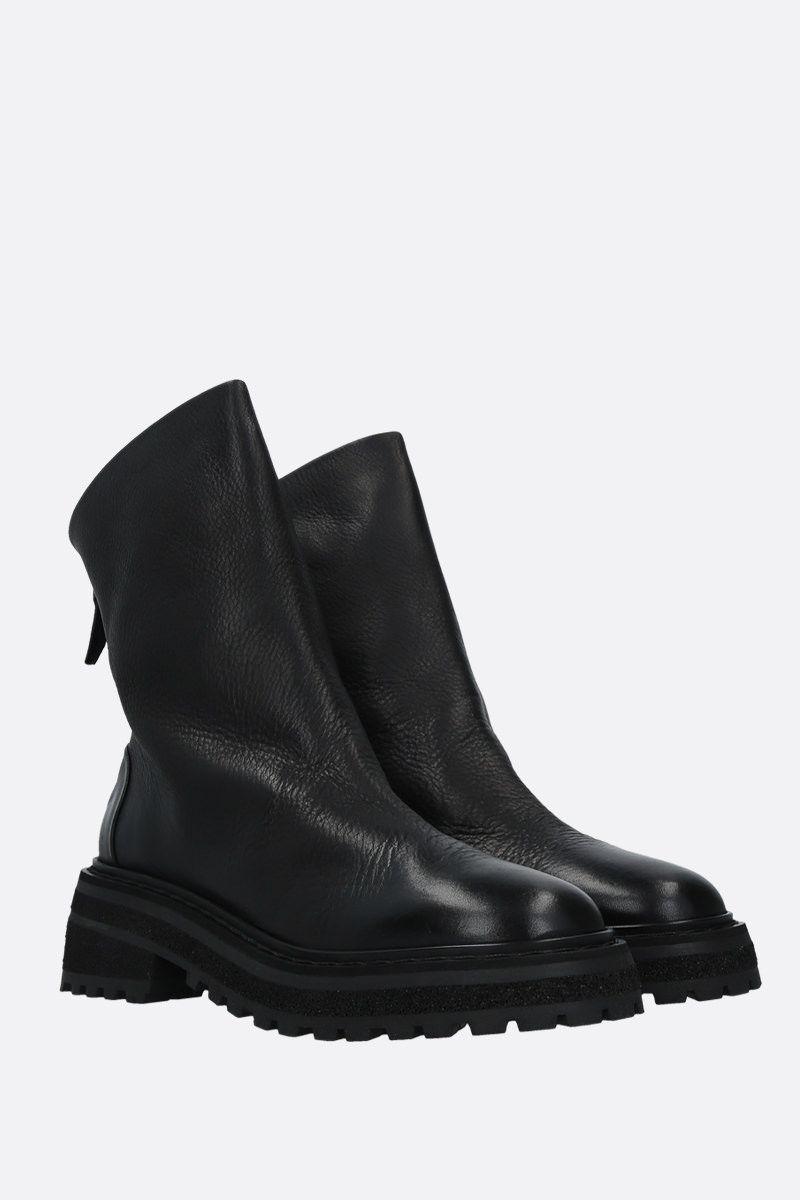 MARSELL: Carro grainy leather ankle boots Color Black_2