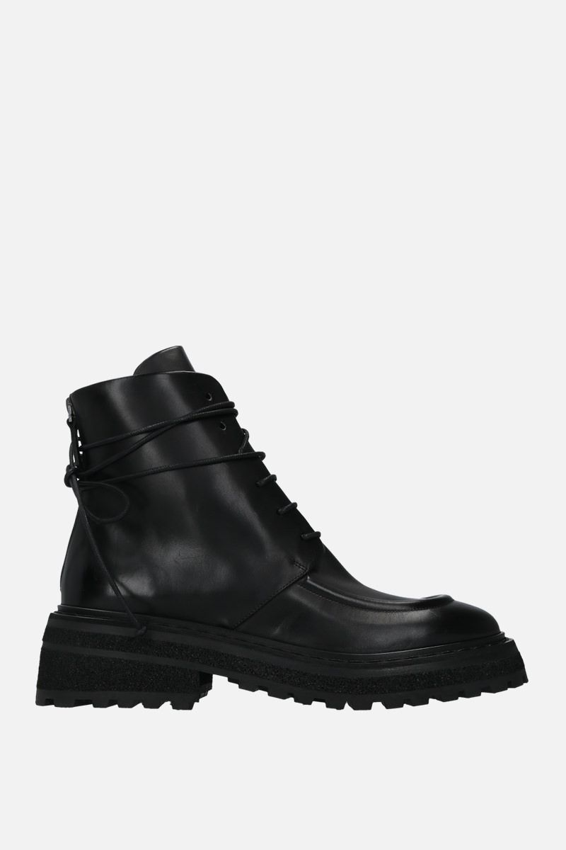 MARSELL: Carro smooth leather laced boots Color Black_1