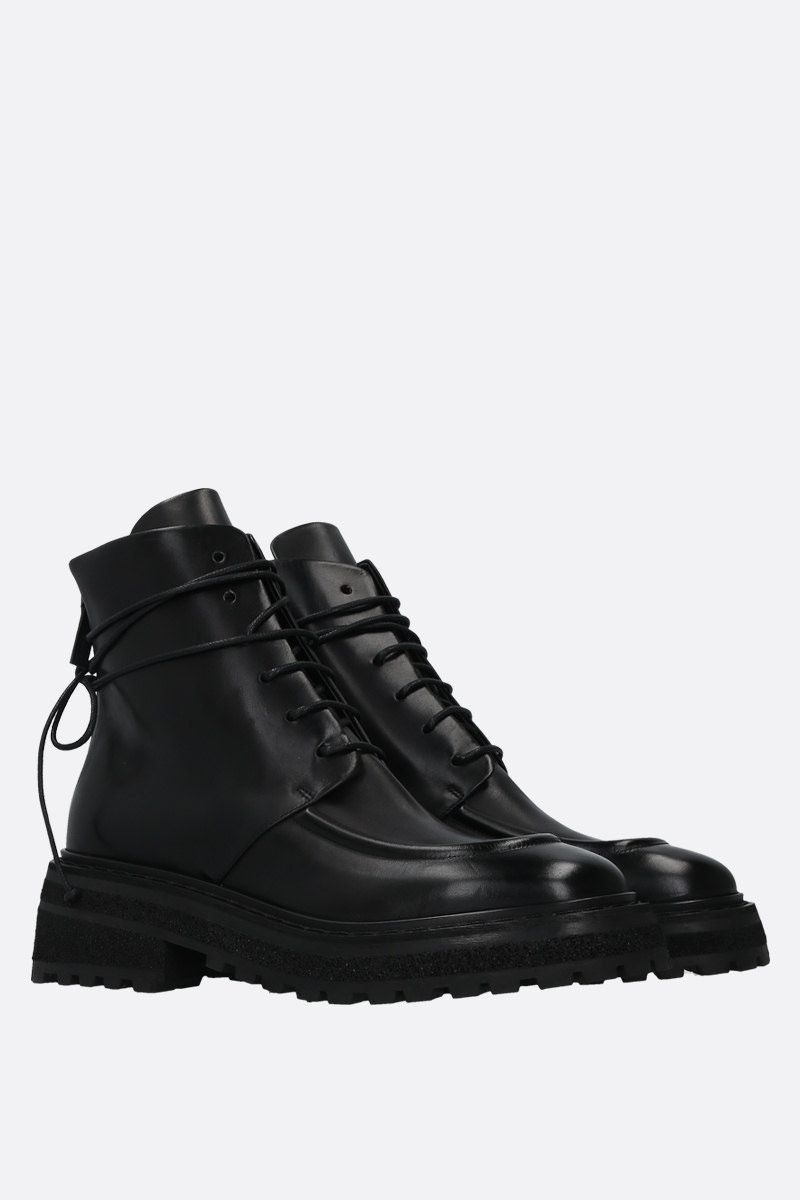 MARSELL: Carro smooth leather laced boots Color Black_2