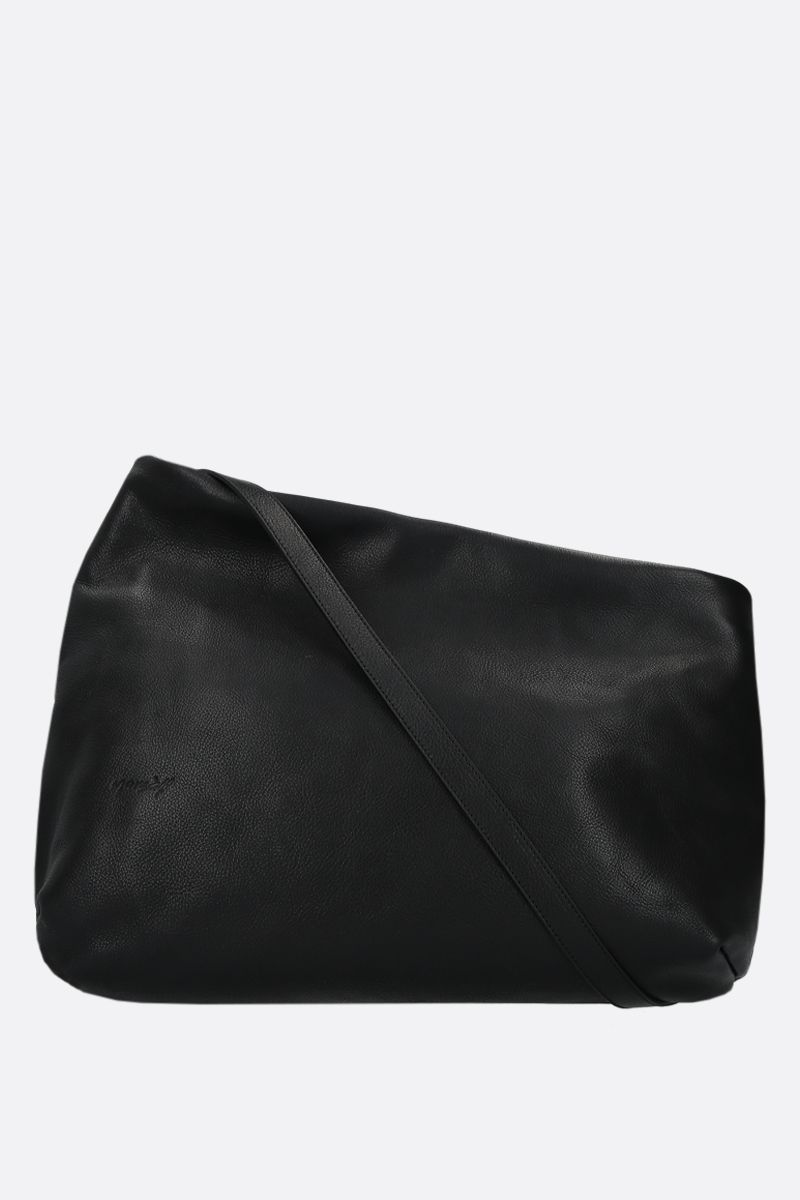 MARSELL: Fantasma large grainy leather shoulder bag Color Black_1