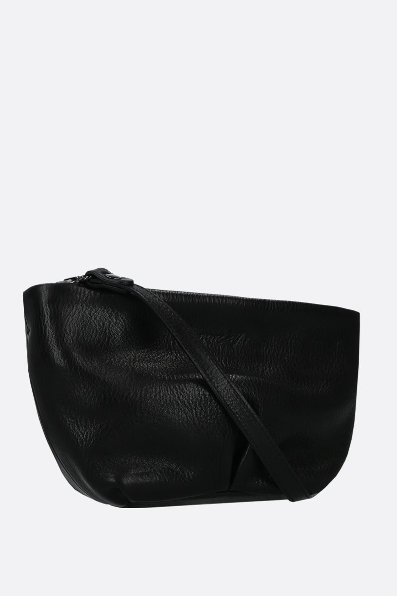 MARSELL: Spinamino small grainy leather strap clutch Color Black_2