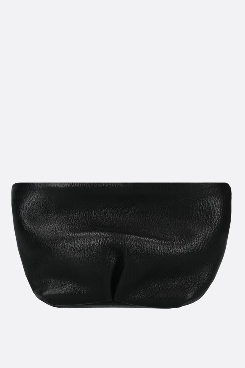 MARSELL: Spinamino small grainy leather strap clutch Color Black_4