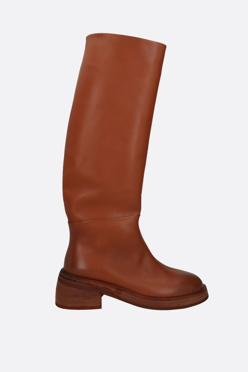 MARSELL: Fondello smooth leather boots Color Brown_1