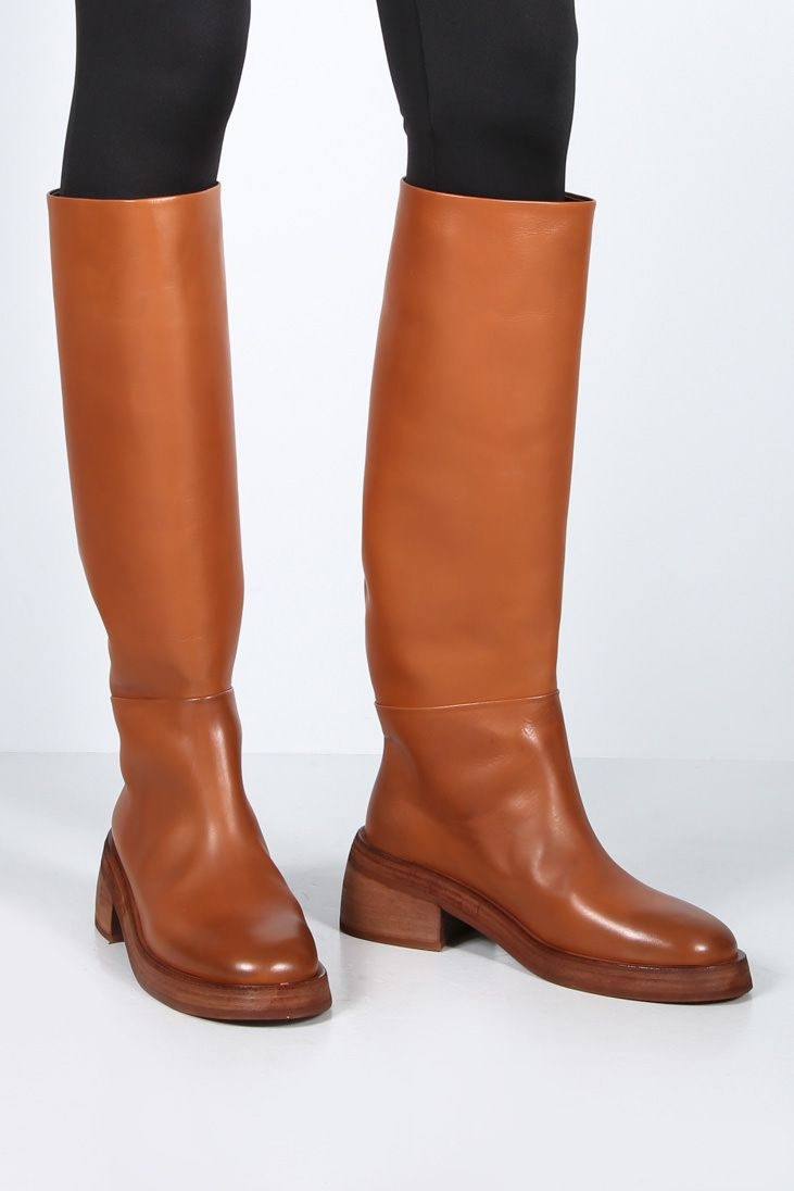MARSELL: Fondello smooth leather boots Color Brown_3