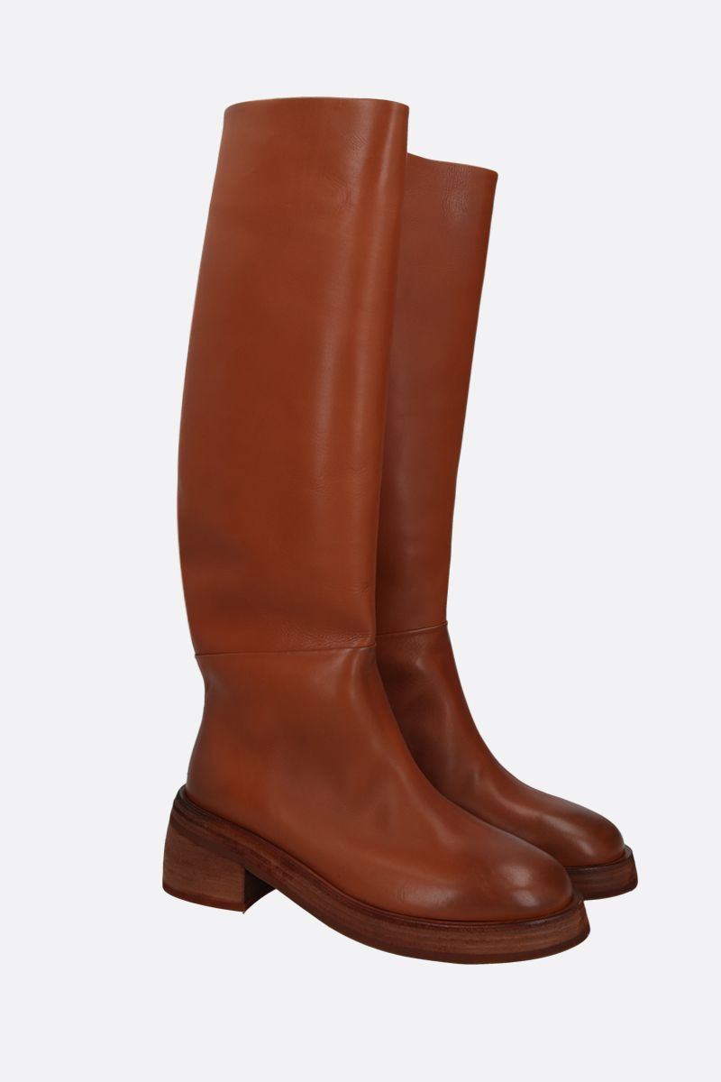MARSELL: Fondello smooth leather boots Color Brown_2