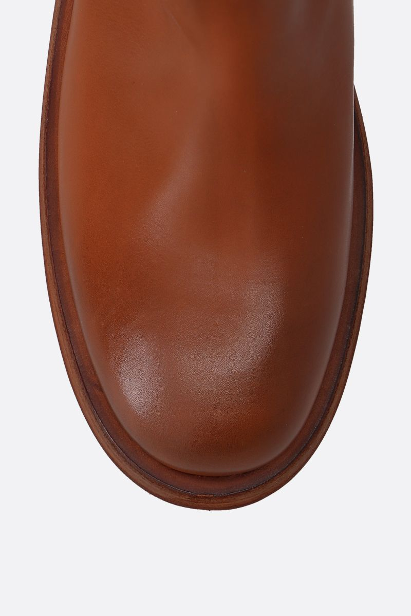 MARSELL: Fondello smooth leather boots Color Brown_5