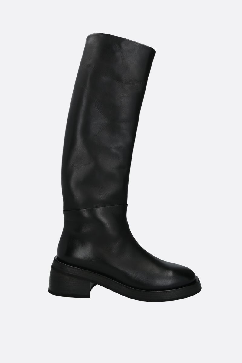 MARSELL: Fondello smooth leather boots Color Black_1