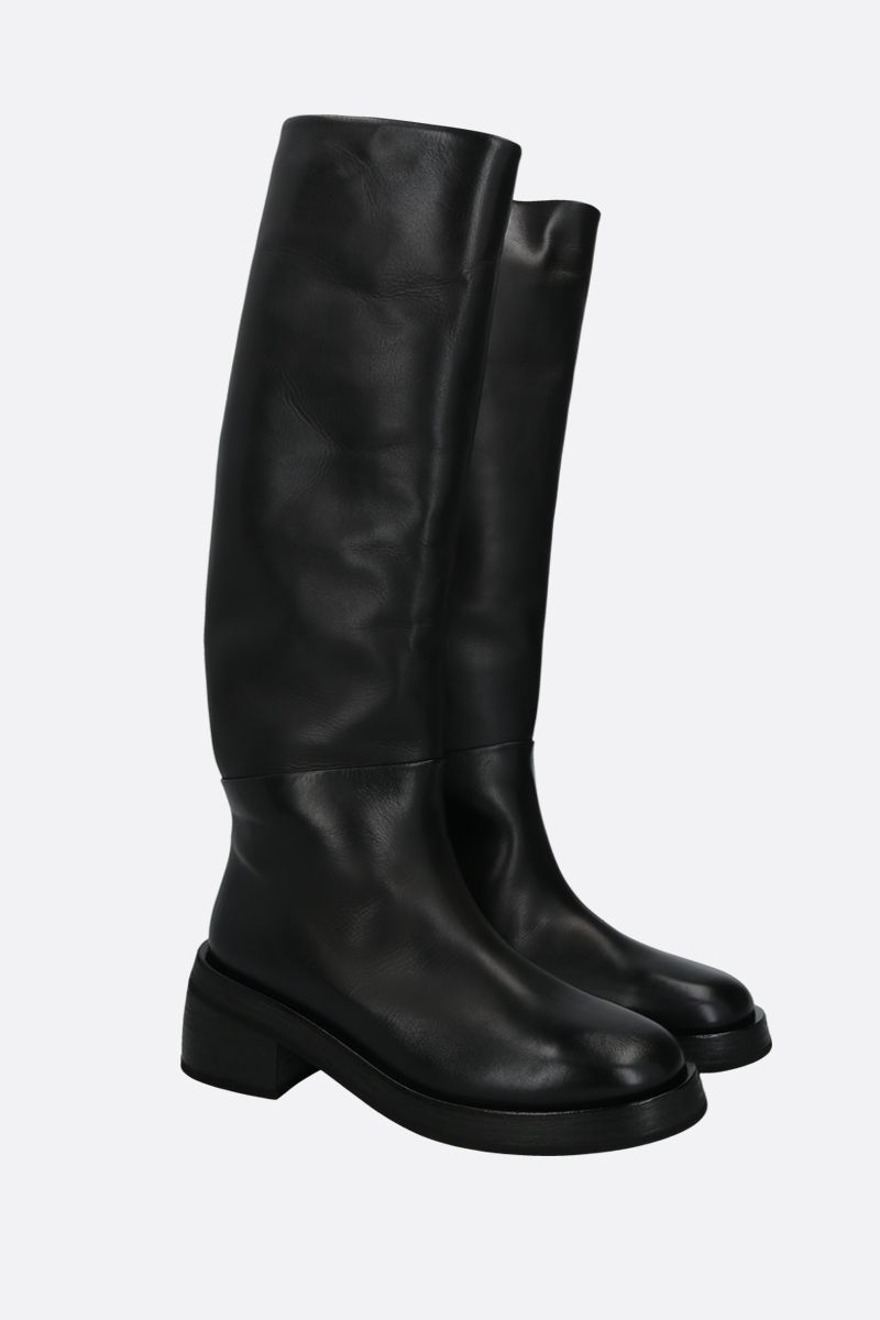 MARSELL: Fondello smooth leather boots Color Black_2