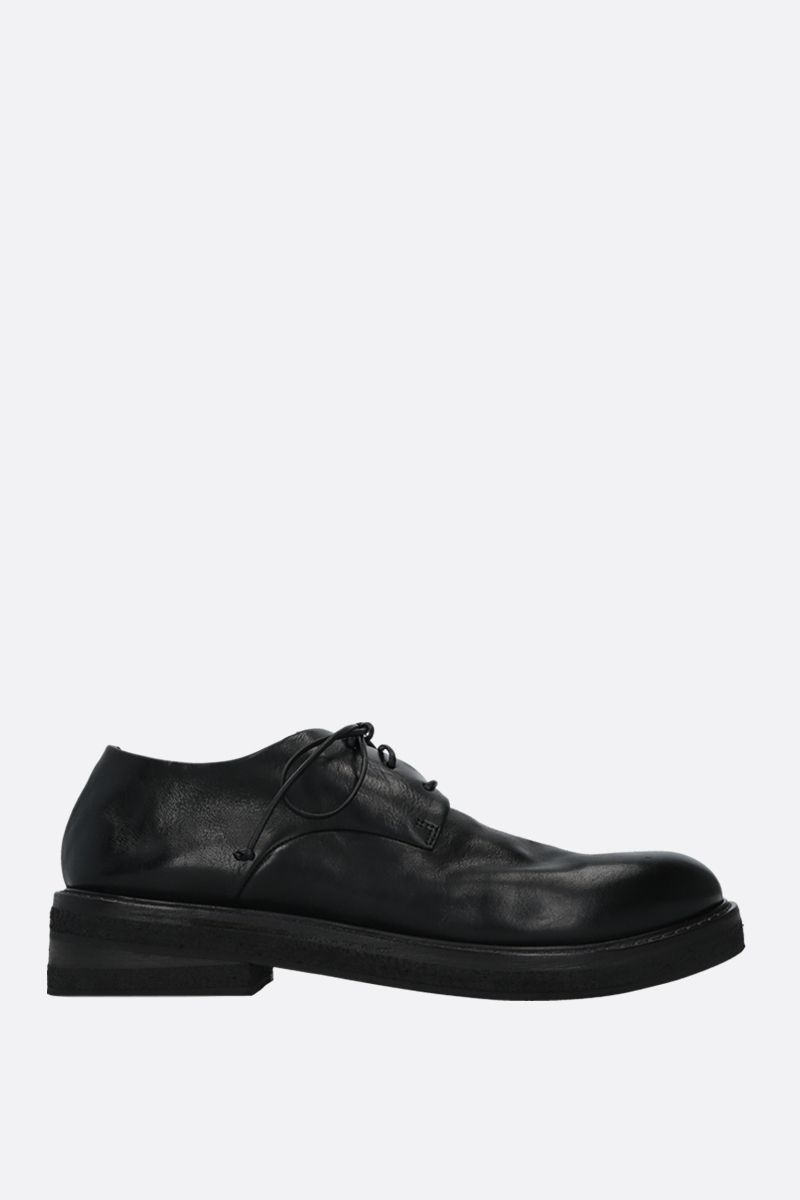 MARSELL: Parrucca smooth leather derby shoes Color Black_1