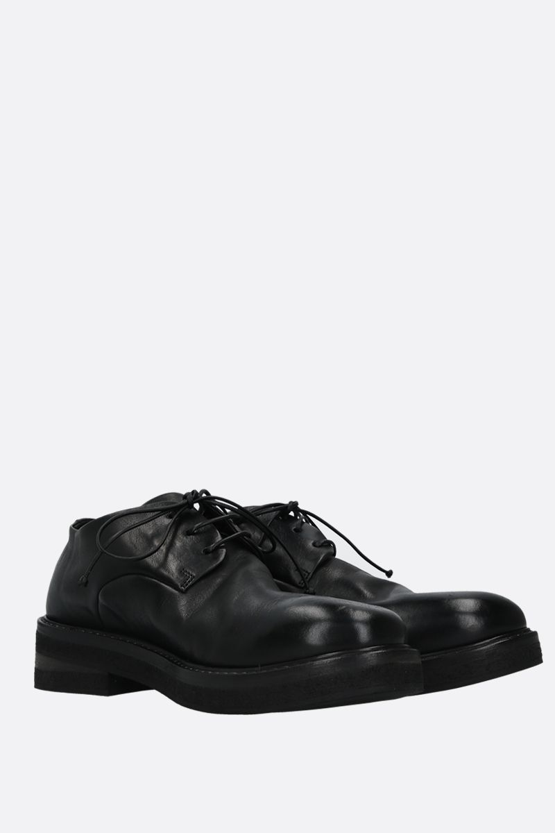 MARSELL: Parrucca smooth leather derby shoes Color Black_2