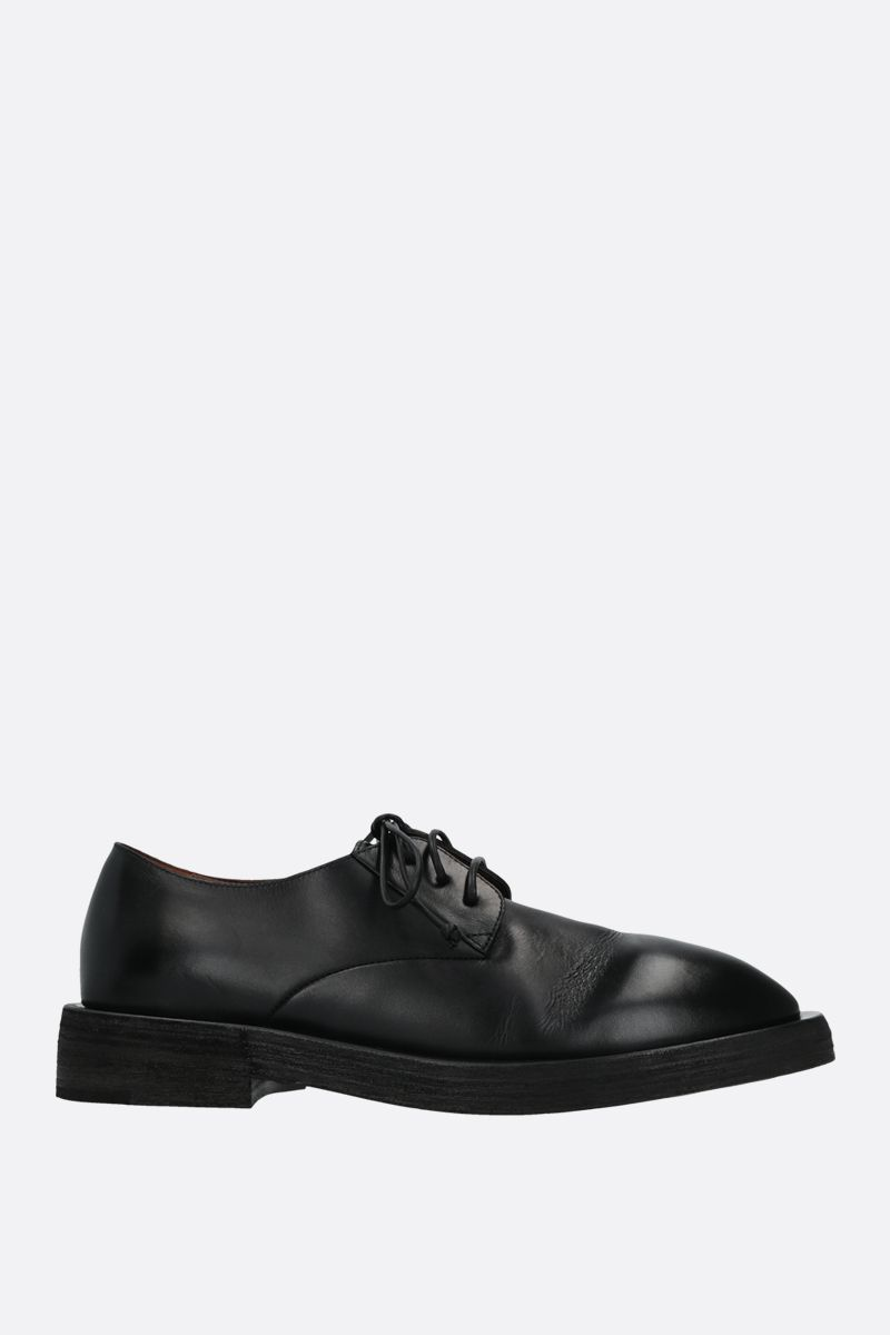 MARSELL: Mentone smooth leather derby shoes Color Black_1