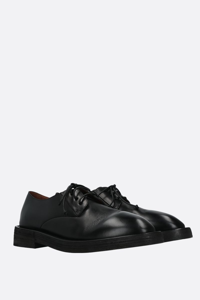 MARSELL: Mentone smooth leather derby shoes Color Black_2