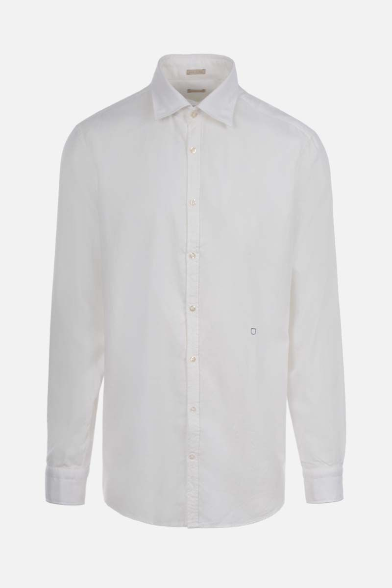 MASSIMO ALBA: Genova cotton blend shirt Color White_1
