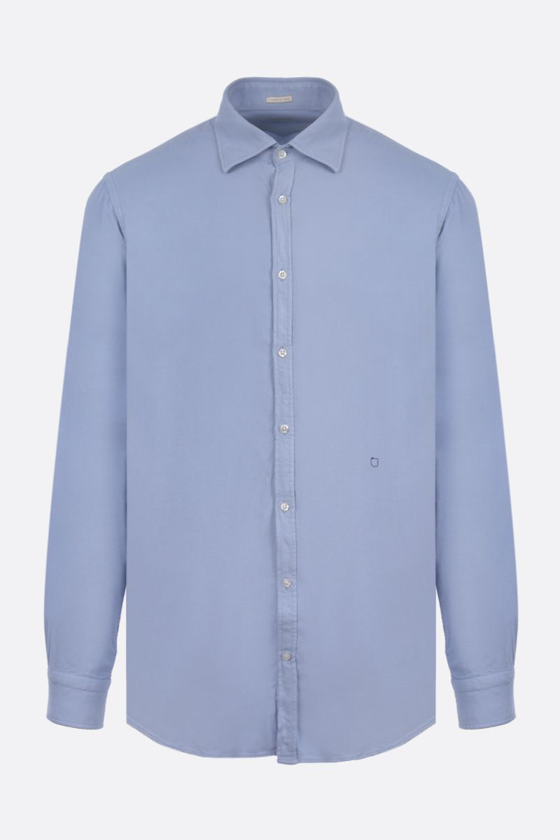 MASSIMO ALBA: Genova cotton blend shirt Color Neutral_1