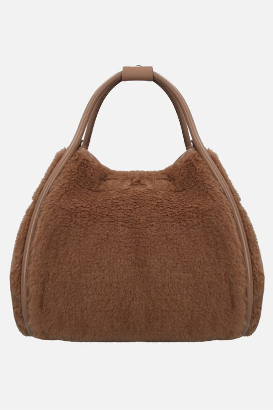 MAX MARA: fur shopping bag Color Neutral_1