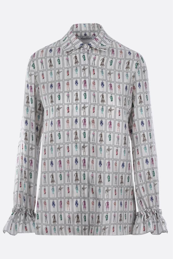 MAX MARA: Ubaldo silk shirt Color Multicolor_1