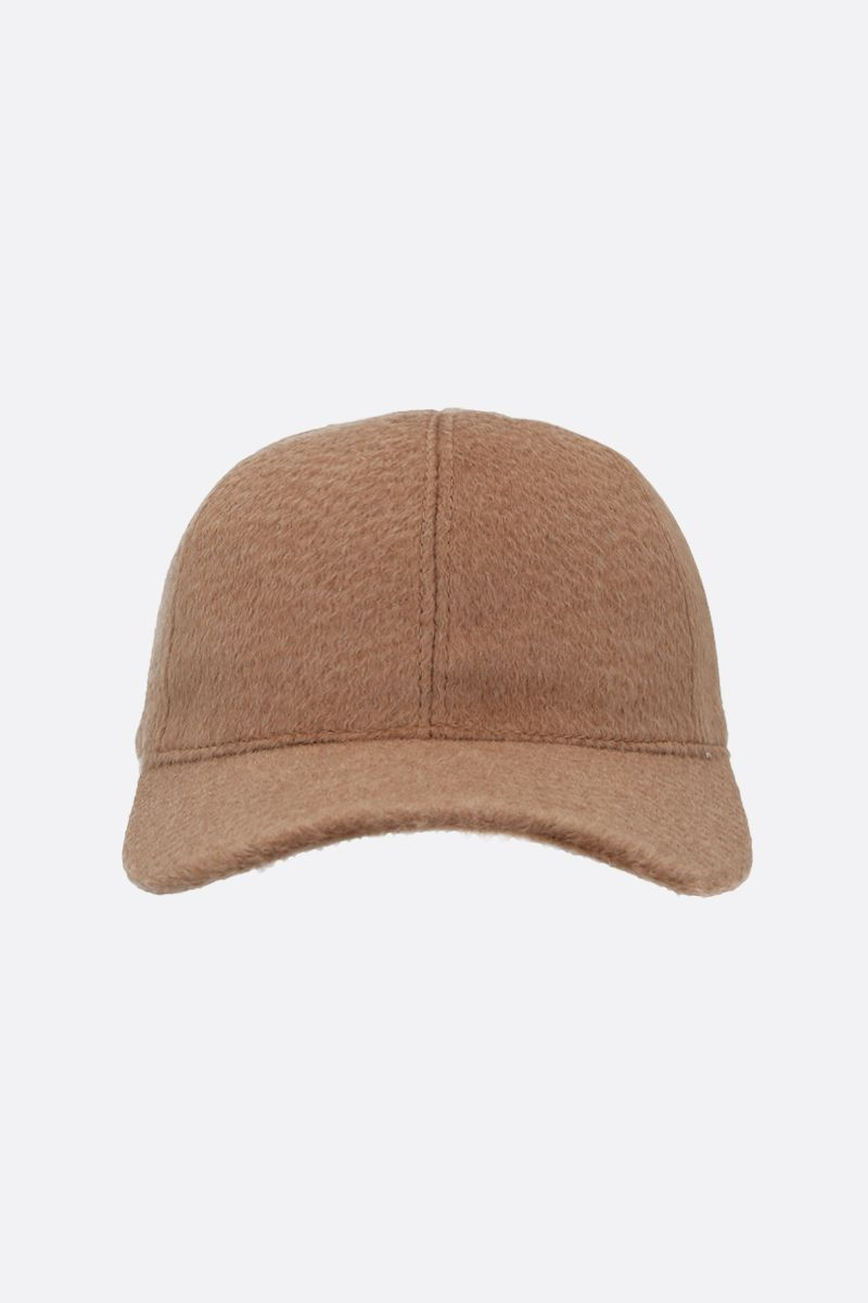 MAX MARA: Amiche camelwool baseball cap Color Brown_1