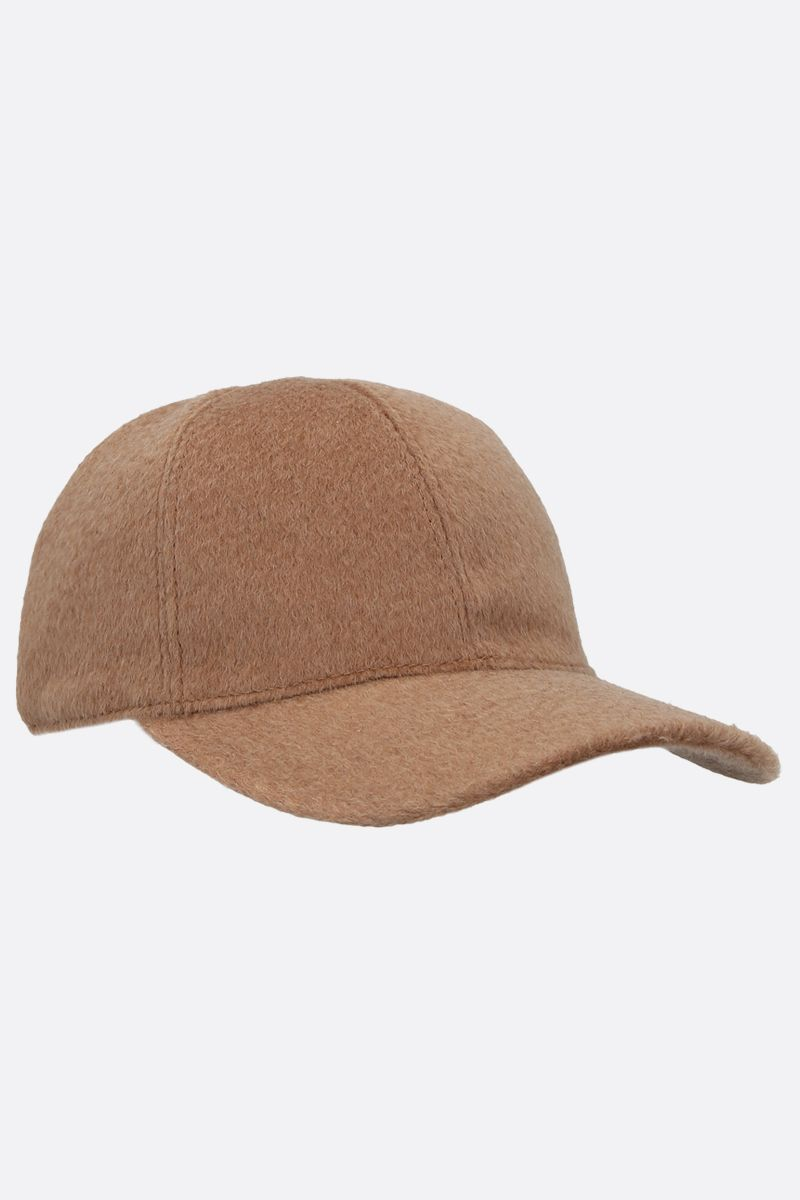 MAX MARA: Amiche camelwool baseball cap Color Neutral_2