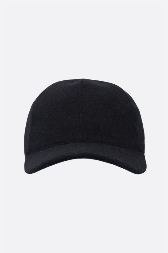MAX MARA: Amiche camelwool baseball cap Color Blue_1