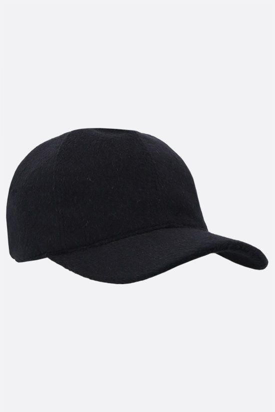 MAX MARA: Amiche camelwool baseball cap Color Blue_2