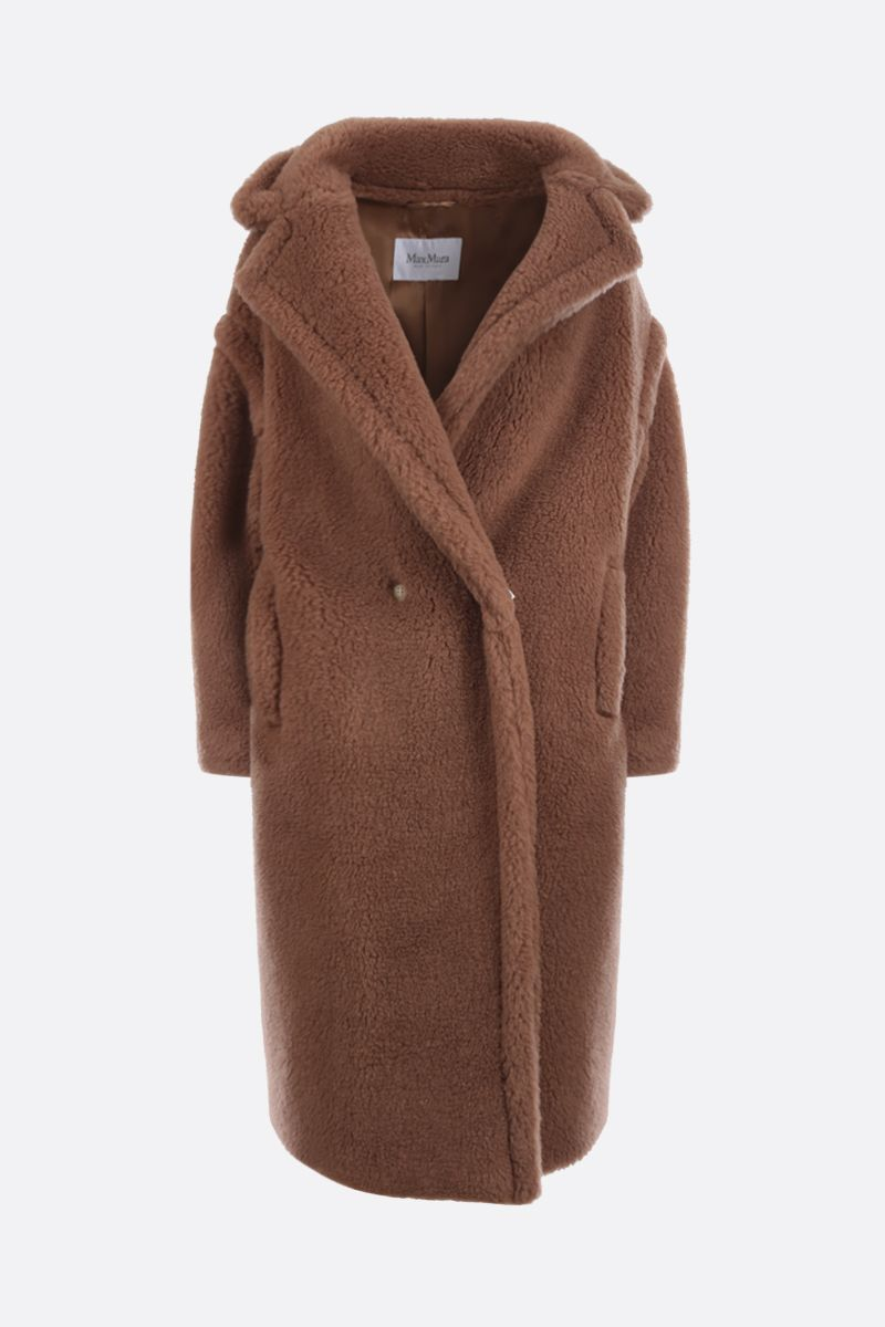 MAX MARA: Teddy camel double-breasted coat Color Neutral_1
