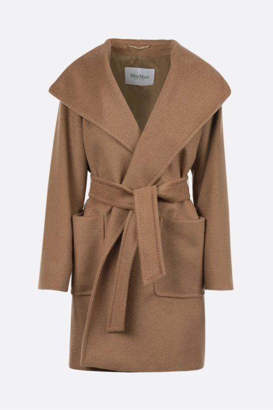 MAX MARA: 3Rialto camel wrap coat Color Neutral_1
