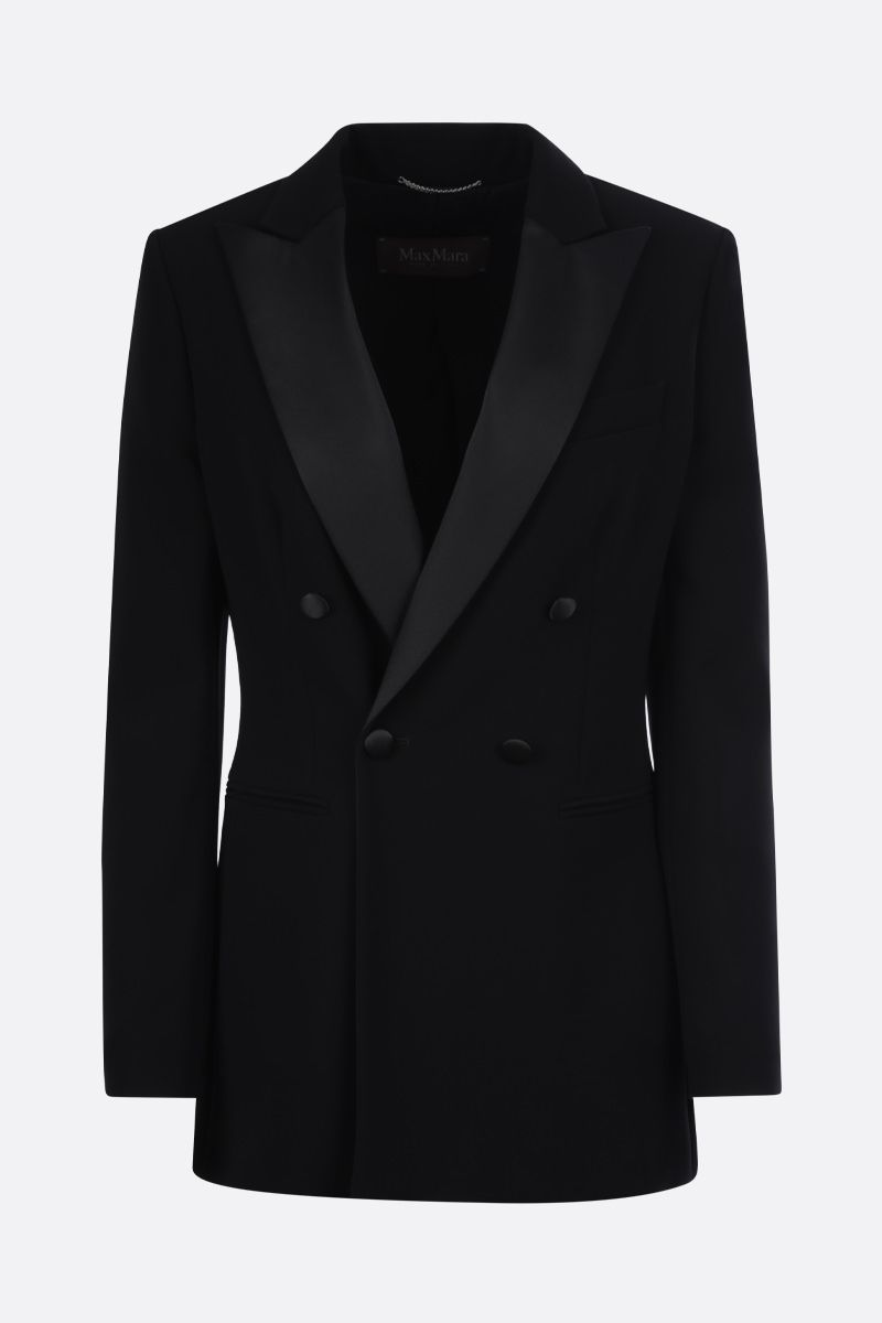 MAX MARA: Lolly cady double-breasted jacket Color Black_1