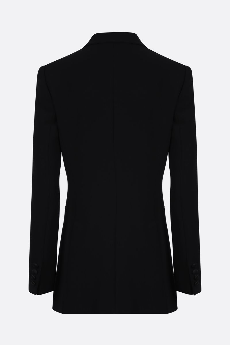 MAX MARA: Lolly cady double-breasted jacket Color Black_2
