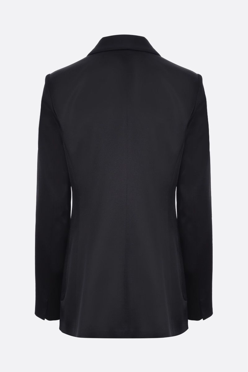 MAX MARA: Glauco satin double-breasted jacket Color Black_2