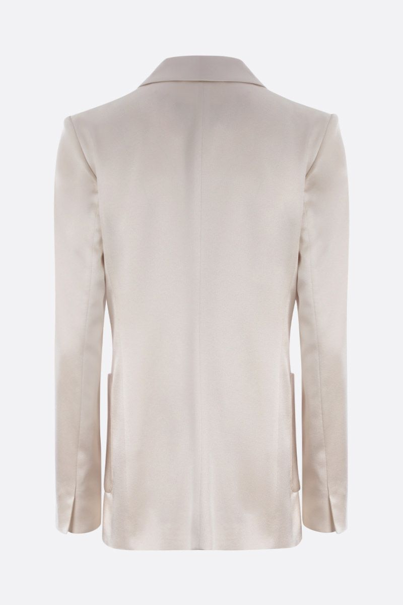 MAX MARA: Glauco satin double-breasted jacket Color Neutral_2