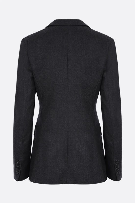 MAX MARA: Oblio double-breasted wool jacket Color Grey_2