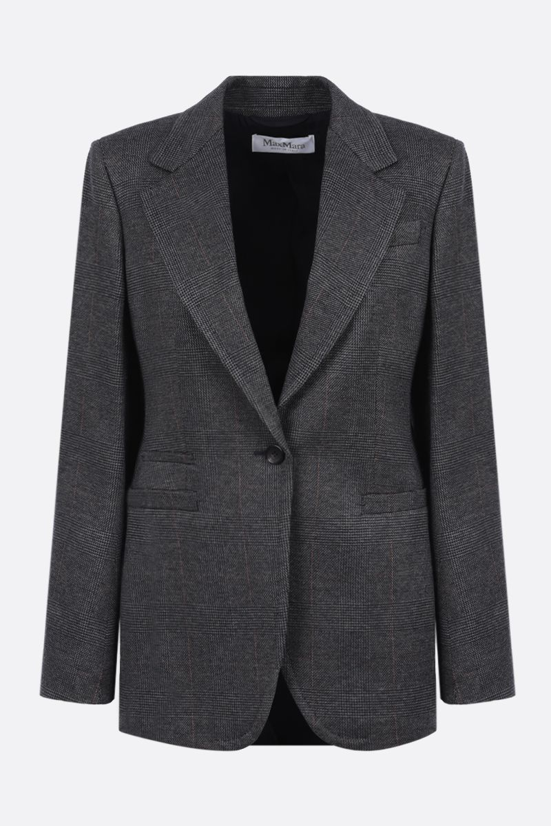 MAX MARA: Sfinge single-breasted prince of Wales jersey jacket_1