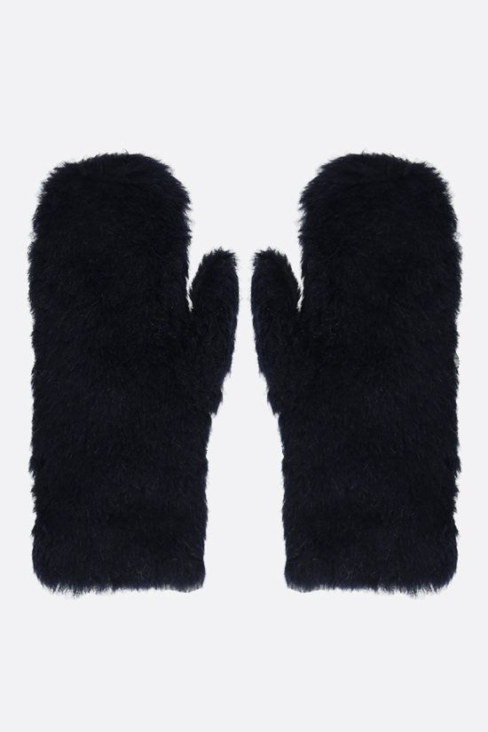 MAX MARA: Ombrat2 fur mittens Color Blue_1