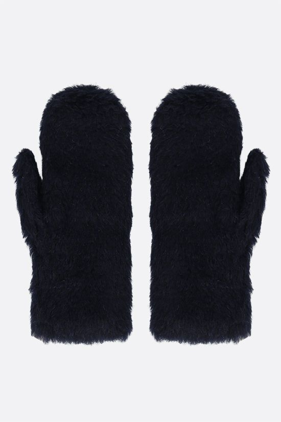 MAX MARA: Ombrat2 fur mittens Color Blue_2