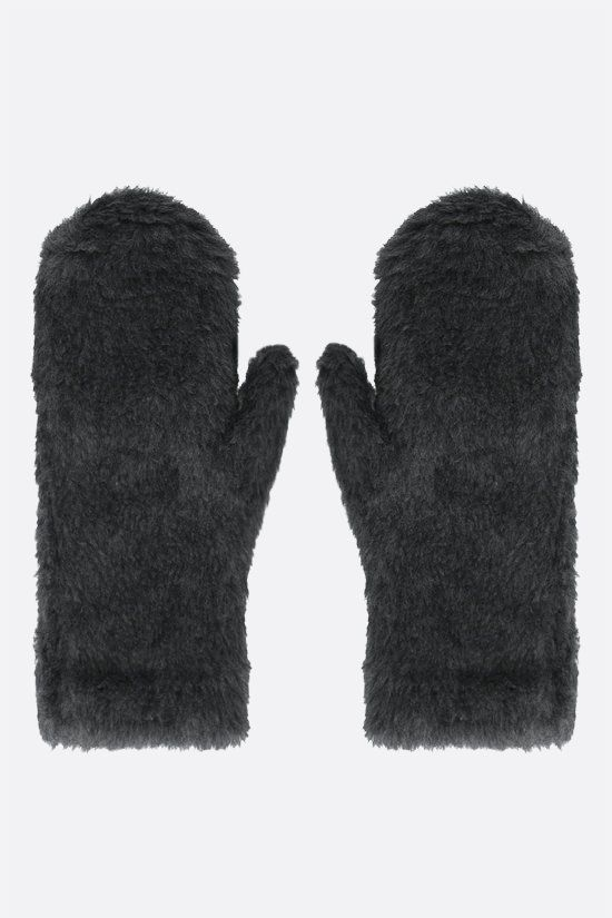 MAX MARA: Ombrat3 fur mittens Color Grey_1