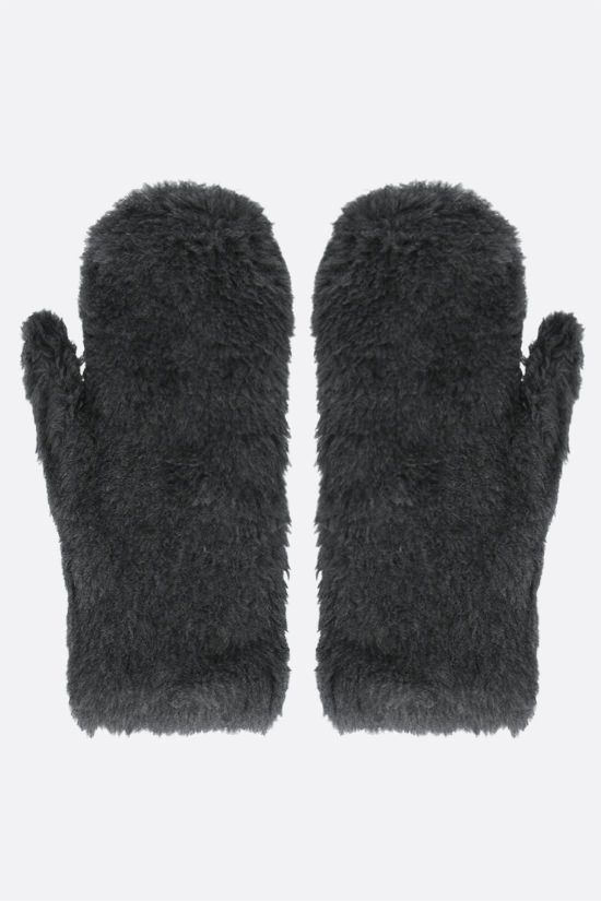 MAX MARA: Ombrat3 fur mittens Color Grey_2