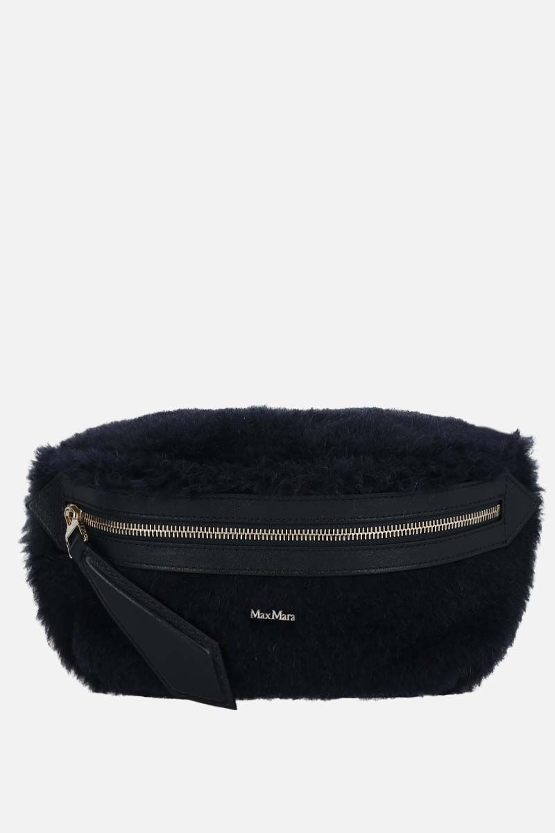 MAX MARA: Banane2 fur belt bag Color Blue_1