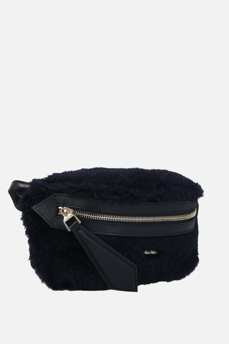 MAX MARA: Banane2 fur belt bag Color Blue_2