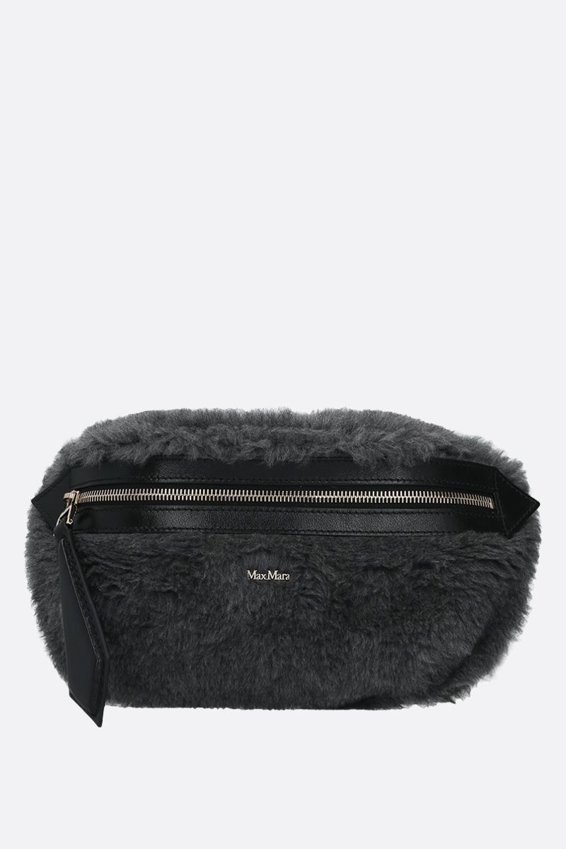 MAX MARA: Banane3 fur belt bag Color Grey_1