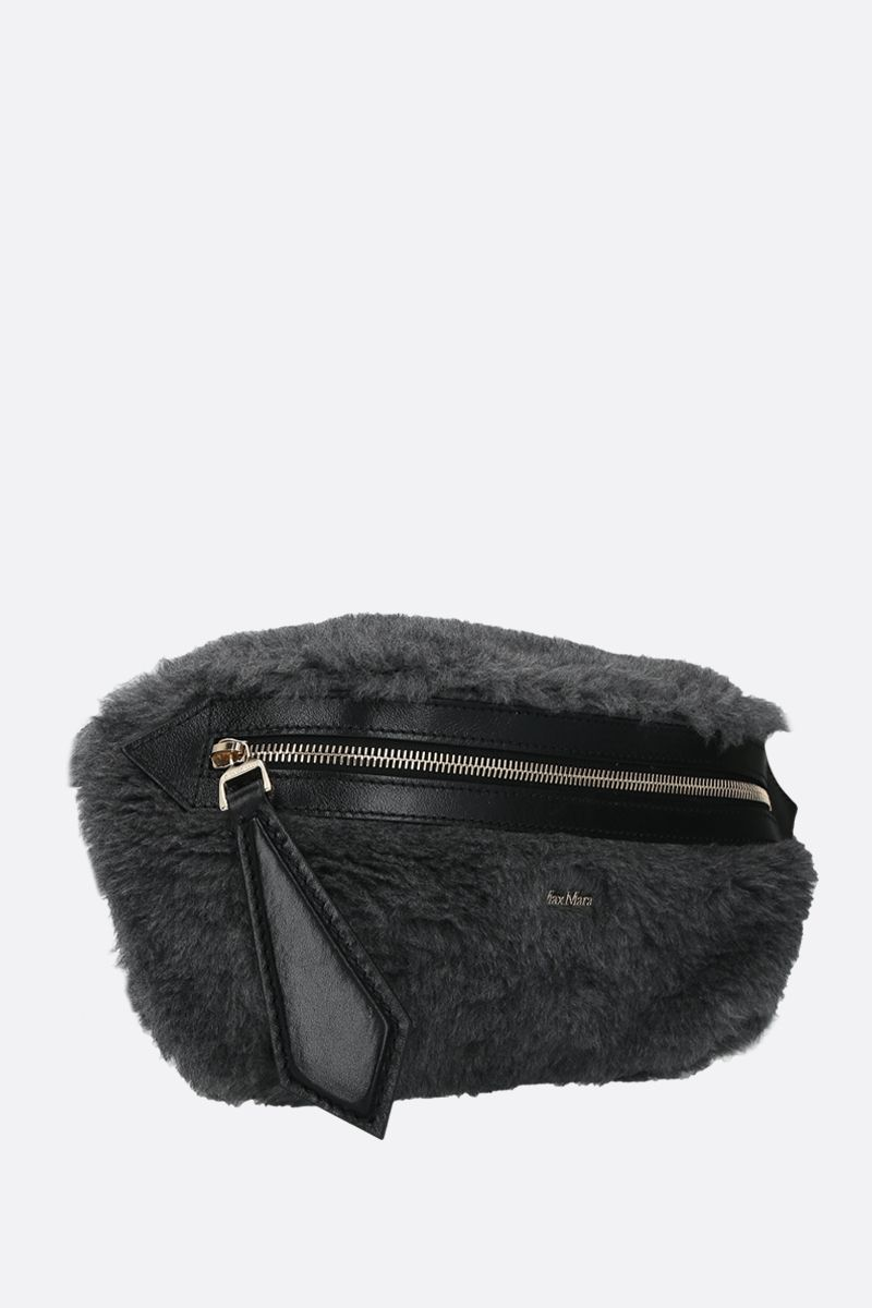 MAX MARA: Banane3 fur belt bag Color Grey_2