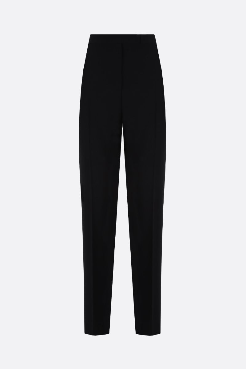MAX MARA: Anny stretch cady tuxedo pants Color Black_1