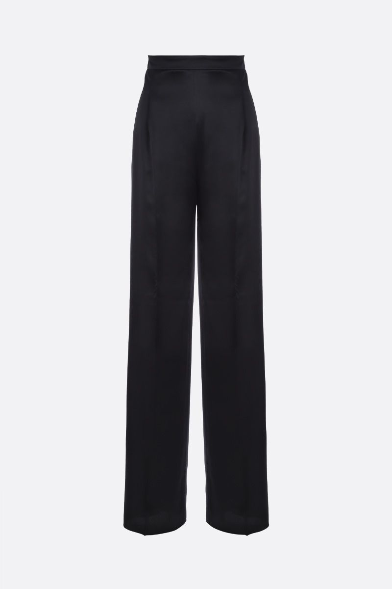 MAX MARA: Eremi satin wide-leg pants Color Black_1