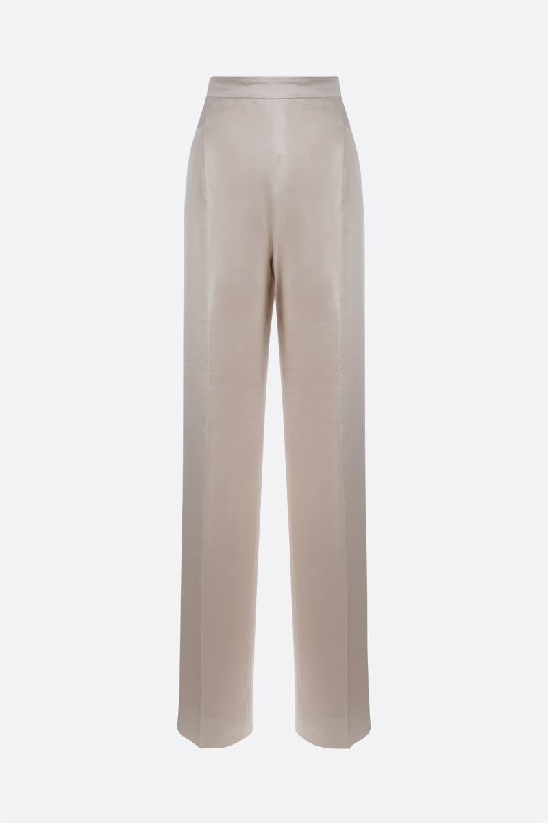 MAX MARA: Eremi satin wide-leg pants Color Neutral_1