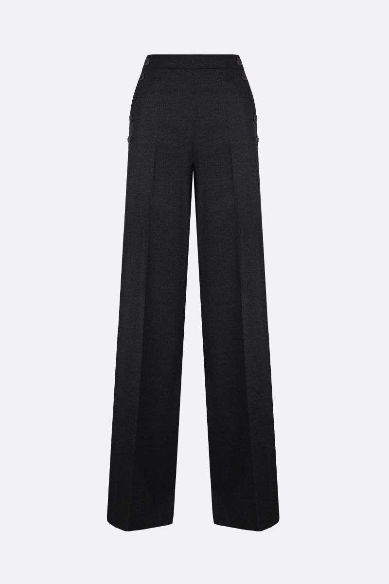 MAX MARA: Cesy stretch wool wide-leg pants Color Grey_1