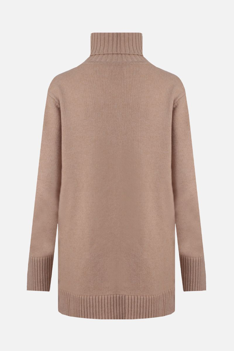 MAX MARA: Nastro wool cashmere blend turtleneck Color Neutral_2