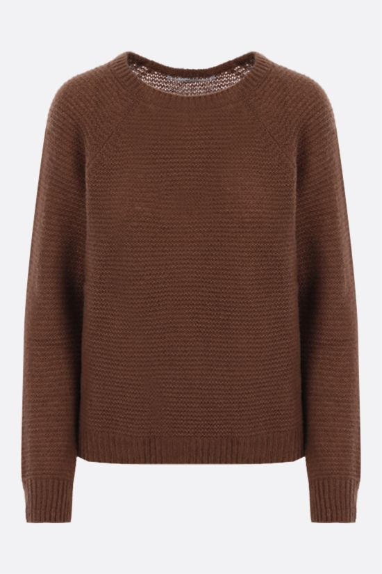 MAX MARA: Satrapo cashmere silk blend pullover Color Brown_1