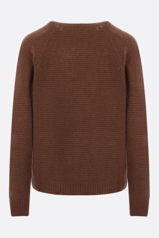 MAX MARA: Satrapo cashmere silk blend pullover Color Brown_2