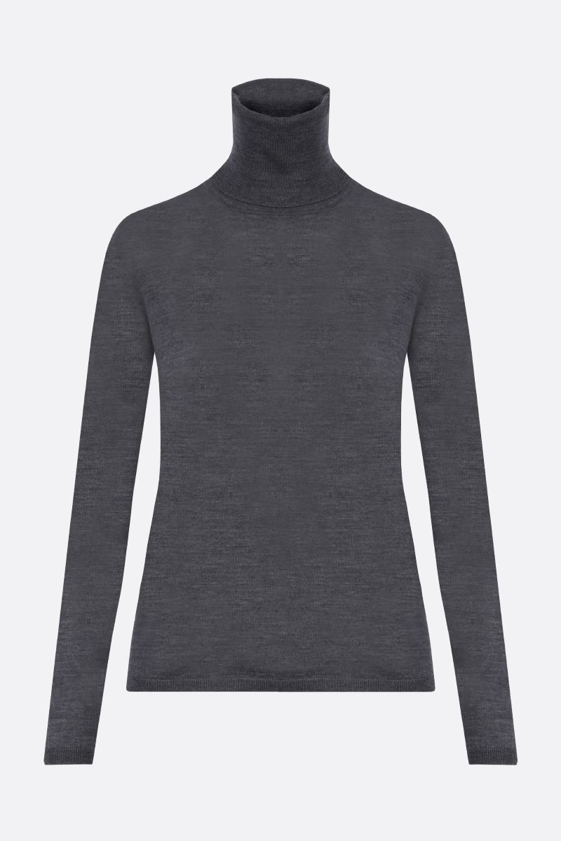 MAX MARA: Saluto combed wool turtleneck Color Grey_1