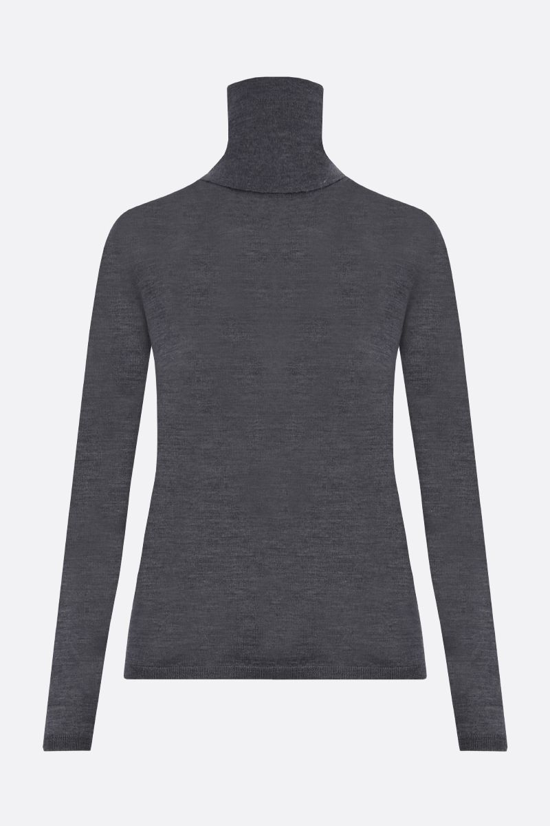 MAX MARA: Saluto combed wool turtleneck Color Grey_2