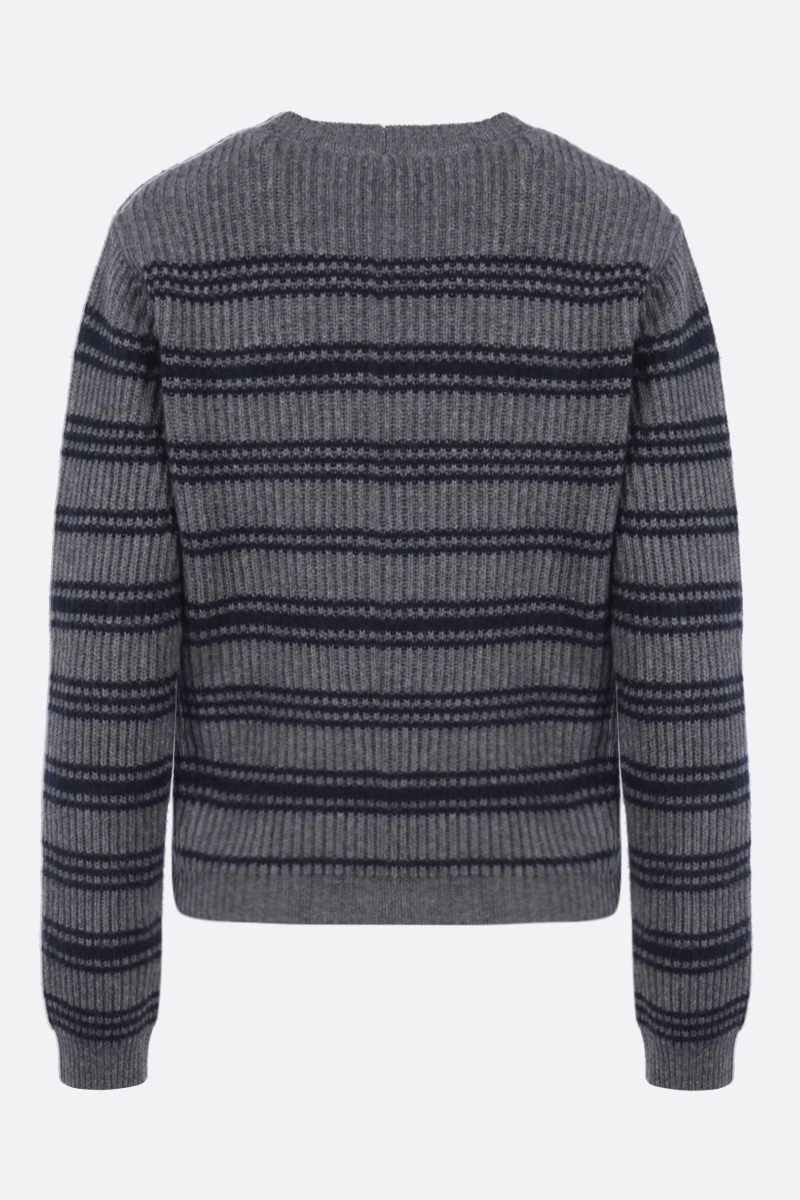 MAX MARA: Teano wool cashmere blend pullover Color Grey_2